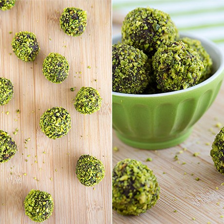 Advent Calendar Day 7 - Pistachio chocolate truffles