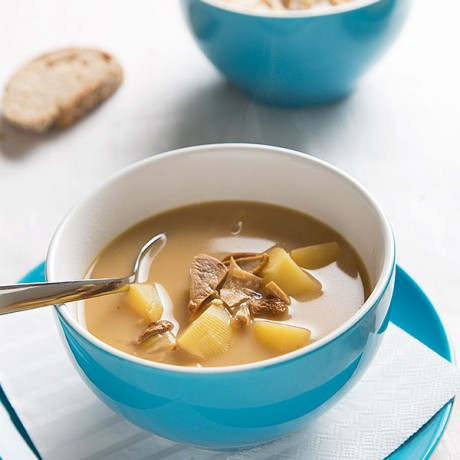 Advent Calendar Day 8 - Snowy Zurich and Porcini Potato Soup