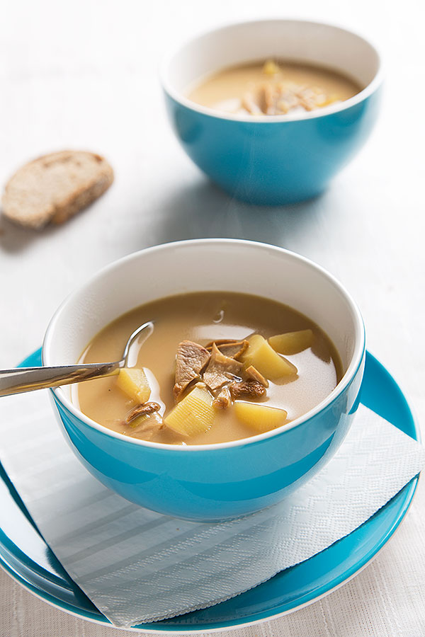 potato porcini soup
