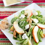 Advent Calendar Day 1 – Apple-walnut-salad with blue cheese and mustard vinaigrette