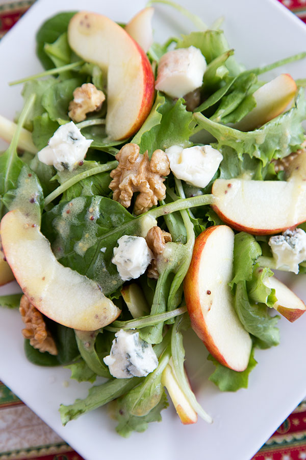 Apple-Walnut-Blue Cheese Salad