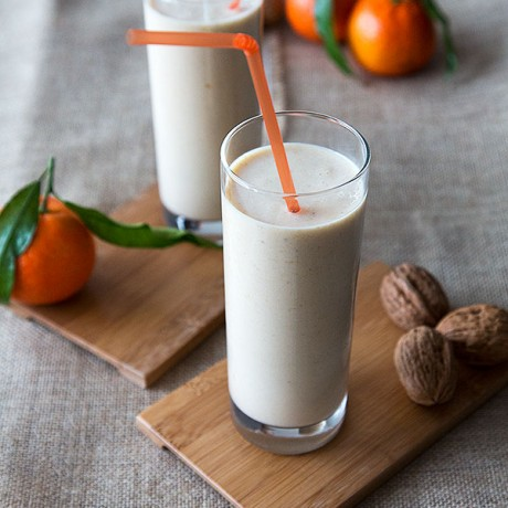 Advent Calendar Day 6 - St. Nicholas and mandarin-smoothie
