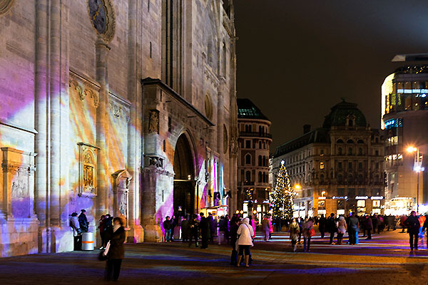 vienna christmas lights stephansplatz