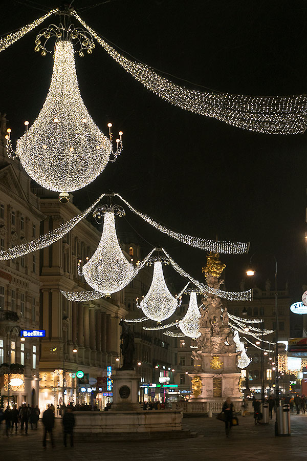 Christmas lights vienna graben