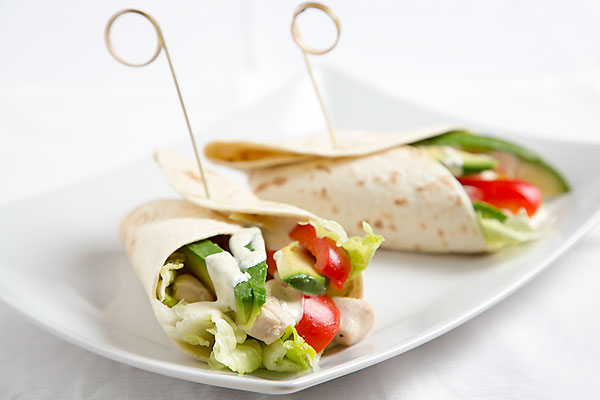Huhn-avocado-wrap