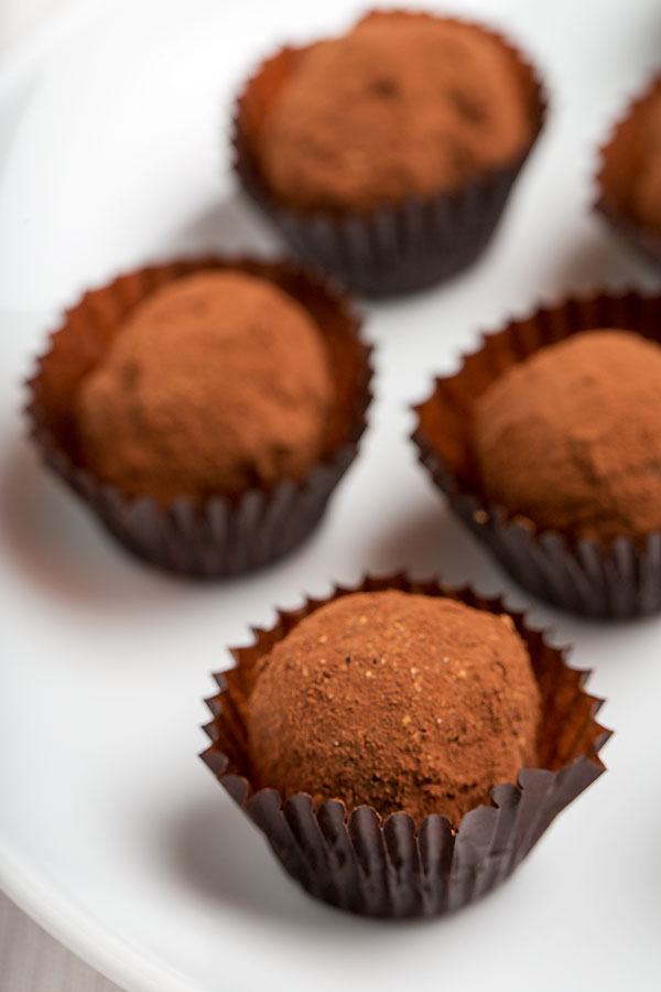 Lia's Dark Chocolate Truffles Recipes — Dishmaps