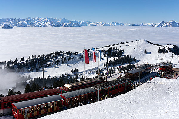 Rigi mountain, Switzerland - Rigi Kulm trainstation