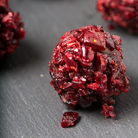 Cranberry chocolate truffles
