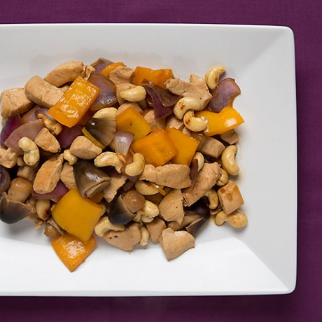 Cashew nut chicken with oyster sauce