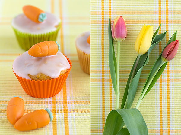 Carrot muffins @ strudelandcream.com