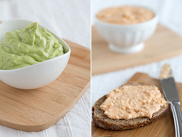 Liptauer and avocado bread spreads @ strudelandcream.com