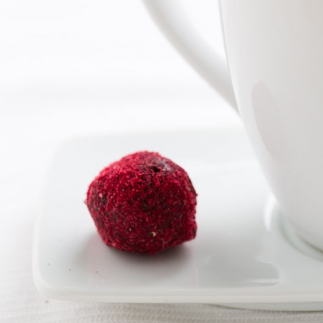 Raspberry Dark Chocolate & Strawberry White Chocolate Truffles