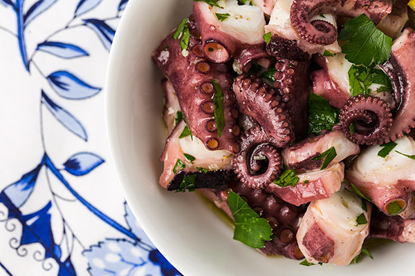 Pulpo salad |strudelandcream.com