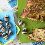 Marzipan Apricot Easter Eggs and Easter Pistachio Walnut Zopf | www.strudelandcream.com
