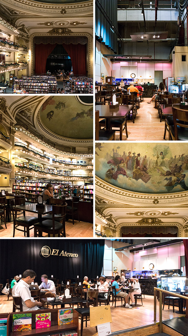 El Ateneo - Bookshop & Cafe in old Cinema, Buenos Aires | www.strudelandcream.com