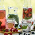 Fruit and herb flavoured waters | www.strudelandcream.com